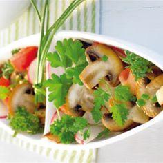 Herb salad with mushrooms recipe