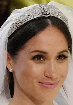 Tiara Mania: Queen Mary of the United Kingdom's Diamond Bandeau Tiara worn by the Duchess of Sussex née Meghan Markle