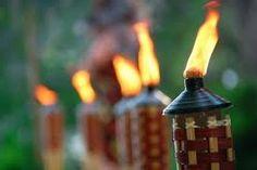 idea, torches for outdoor parties, luau, backyard parties, tiki parti, summer nights, grad parti, tiki torches, light