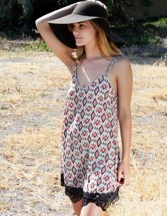 Ikat Print Slip Dress. In Store Online @Mo Rose In the OC.com #summer #slipdress #melroseintheoc #fashion #sundress