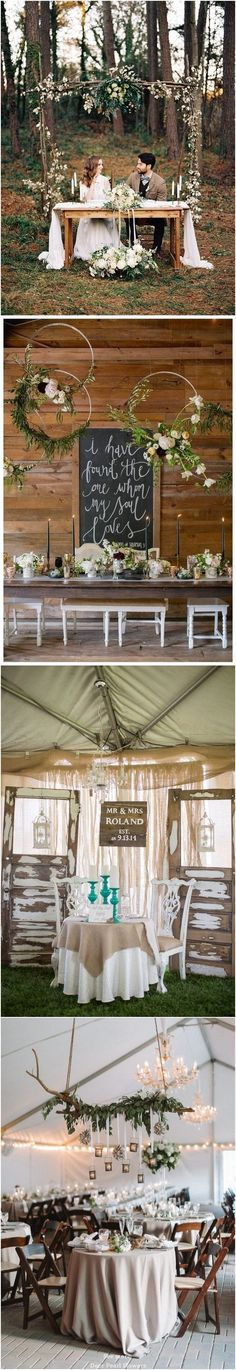 Wedding Quotes : Rustic country wedding ideas rustic sweetheart table decor for wedding recepti