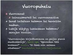 Suora kerronta ja vuoropuhelu - YouTube Grammar, Literacy, Literature, Language, Classroom, Teaching, Writing, School, Literatura