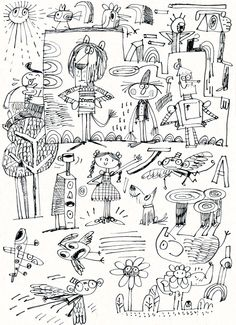 Fred Blunt Doodles