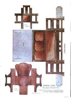 Bilderesultat for mary frances paper dolls Miniature Dollhouse Furniture, Miniature Crafts, Miniature Dolls, Dollhouse Miniatures, Paper Doll House, Doll House Crafts, Paper Houses, Paper Furniture, Doll Furniture