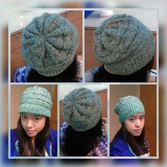 drop knit hat | FREE PATTERN