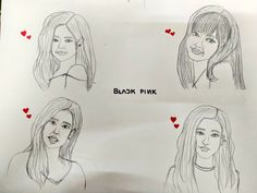 Am one of the blinks.hope I can draw more amazing sketches of pretty kpop idols ever. Amazing Sketches, Cool Sketches, Idol, Draw, Pretty, To Draw, Sketches, Painting, Tekenen