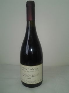 Ata Rangi Pinot Noir 1996, Martinborough, New Zealand.    A wine full of intense maturation character, ripe red fruits and cherry, balanced by an earthiness that gave the wine real complexity. This is a stunning wine to cellar - if you still have some keep for another 5 years.