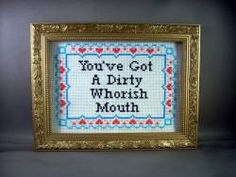 Do It Yourself Kit You've Got A Dirty Whorish Mouth. $13.00, via Etsy.