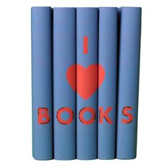 I Heart Books Set- Blue & Red