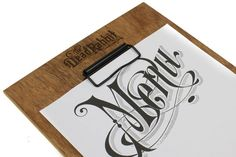 Custom Wood Menu Board With Your Laser Engraved Logo And Low Profile Clip For Holding Menu Page, Menu Cover, Clipboard, Menu Holder