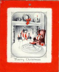 Cheery Christmas fireside.