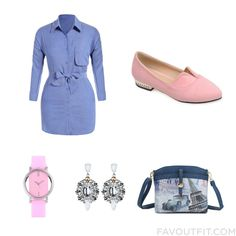 Outfit Mix And Match Including Dress Flat Pumps Shoulder Bag And Silicon Watch From December 2016 #outfit #look