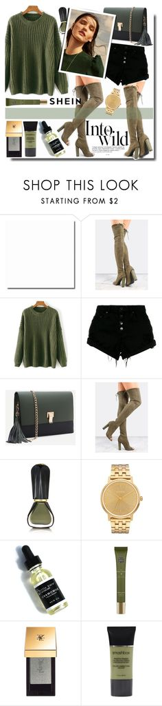 """Into wild /SHEIN"" by fashiondiary5 ❤ liked on Polyvore featuring Anja, Nobody Denim, Oribe, Nixon, Rituals, Yves Saint Laurent, Smashbox and shein"