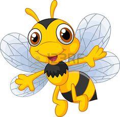 Cartoon cute bees photo