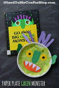 Paper Plate Green Monster - Kid Craft