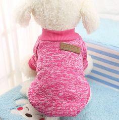 Warm Dog Coats Puppy Clothes Sweater Jacket