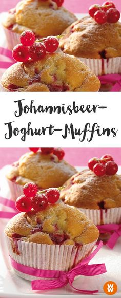 Johannisbeer-Joghurt-Muffins, Muffins, 6 SmartPoints, einfach, Rezept, für Kindergeburtstage und Picknicks   Weight Watchers