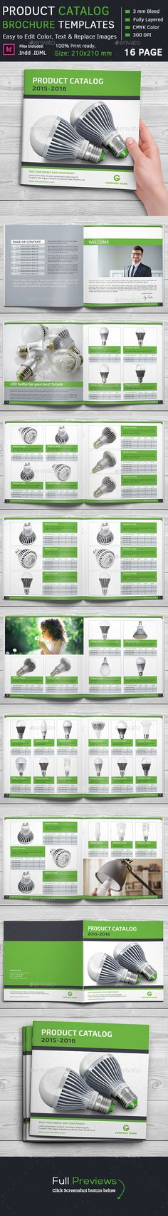 Product Catalog Square Brochure Template #design Download…