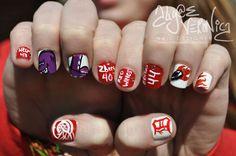 I love Algae Veronica's nail designs. Follow at lotsafingerpaints.tumblr.com