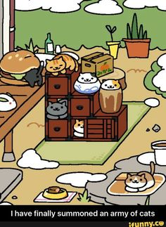 Lol that one cat that's inside the burger! XD