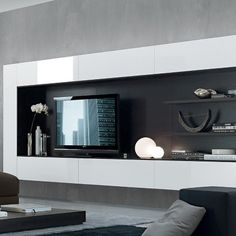 TV Unit Wall Mounted High Gloss - Jesse