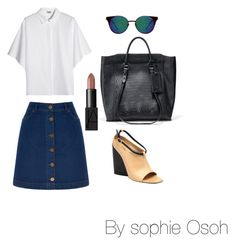 """""""Untitled #141"""" by slayparadise on Polyvore featuring Cole Haan, Oasis, Kenzo, COSTUME NATIONAL, NARS Cosmetics and Quay"""