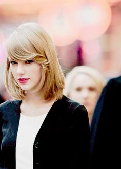 Taylor Swift. <3 Was devastated when I saw her hair cut but it is growing on me.