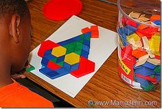 Pattern Block Clown Pages
