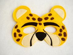Children's CHEETAH Felt Animal Mask by magicalattic on Etsy, $12.50