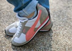 puma sneakers, coral sneakers