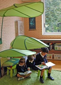 leaf shades from Ikea.Have two, going to use on Deck over The Children's chairs instead of umbrella!