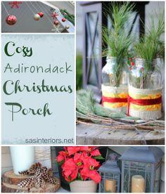 Cozy Adirondack Christmas Porch created by @Jenna_Burger via sasinteriors.net
