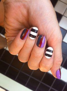 Stripes, stripes, stripes #nails #nailart