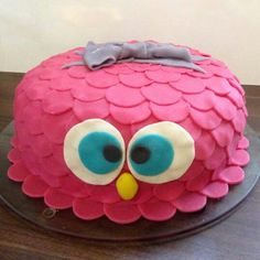 Owl cake. For my oldest daughter when she turned 7.