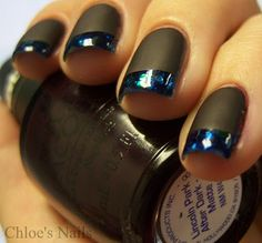 have got to try this - Deborah Lippmann Across the Universe & OPI Lincoln Park After Dark Matte