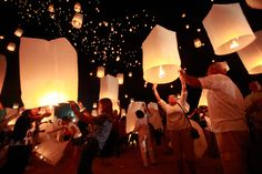 What a wonderful idea for a summer solstice party-- floating paper lanterns to celebrate the shortest night of the year!