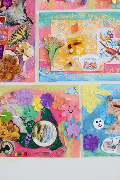 Mixed Media Collage with Tinker Trays