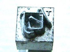 intage Japanese Typewriter Key Stamp fragrance smell in Showa Period