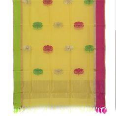 Marm Handwoven Chanderi Silk Cotton Dupatta 10000685 - AVISHYA.COM
