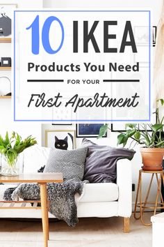 Are you looking for Ikea products to set up your first apartment? There are so many Ikea products to choose from, but we have selected some basics to keep you covered that are affordable and essentials for anyone moving into their first apartment! Boho Apartment, Apartment Needs, 1st Apartment, Apartment Goals, Dream Apartment, Apartment Design, Apartment Living, Apartment Therapy, First Apartment Checklist