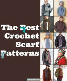25 Crochet Scarf Patterns - tutorials that are great for summer, fall, winter, and spring!