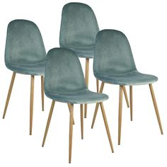 Charlton Velvet Chair - Aqua (set Of 4) | Buy Online in South Africa | takealot.com