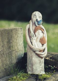#scultura #abbraccio pezzo unico in #terracotta #ceramica #ceramic #art #sculpture #love #lovers #hug #abbraccio