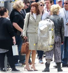 Kristen Wiig on the set of the all-female Ghostbusters reboot.