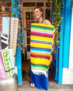 🌴🌞 VIVA LA VIDA LOCA 🌞🌴 #Boho beauty found a Funky #Rainbow #Aztec Blanket 🌴🌞 For all her #Glamping #Adventures 🌞🌴 #Summertime #VivaLaVida #HandmadewithLove #Mexico 🌴🌞 #MilagrosMundo your #local #Wanderlust #hippie #Bohemian #lifestyle #Giftstore...
