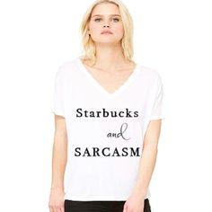 Women's Starbucks Slouchy V-Neck