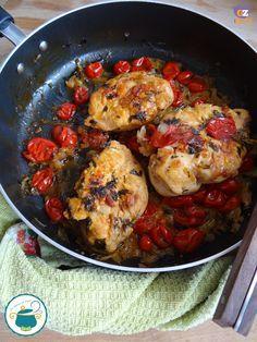 petto di pollo al vino bianco e pomodorini