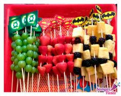 Simple Superhero Party Food Ideas You Can Make In birthday boy party ideas. More in my web site Simple Superhero Party Food Ideas You Can Make In Minutes superhero party food Tinley's BD. Superhero Party Food, Superhero Baby Shower, Superman Party, Batman Party Foods, Superhero Treats, Superman Baby Shower, Marvel Baby Shower, Superhero Party Invitations, Superhero Superhero