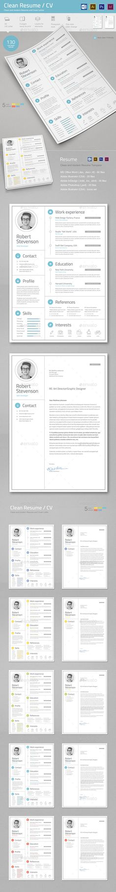 Resume/CV by TypoEdition Resume/CV. This is a modern and powerful template for a Resume and Cover Letter. Other Resume in my portfolio: Features Ready