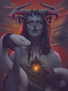 the world of digital art Dark Fantasy Art, Fantasy Girl, Fantasy Artwork, Dark Art, Arte Horror, Horror Art, Art Sketches, Art Drawings, Female Demons